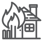 House on Fire icon grey