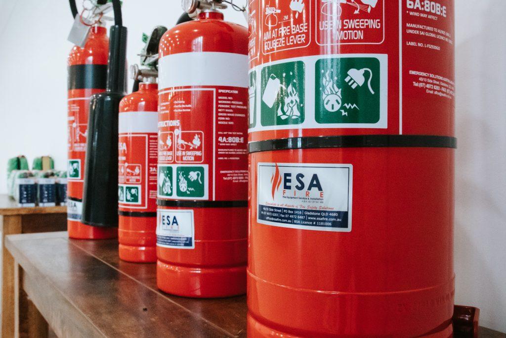 ESA Fire extinguishers