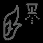 Fire Suppression Icon Grey